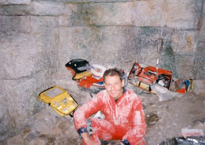 Peter Faulding on set of Call Red 1995